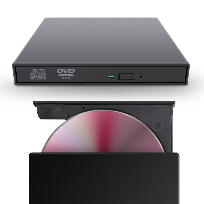 넥스트 USB 2.0 DVD 외장형 멀티 플레이 드라이버 CD롬, 블랙