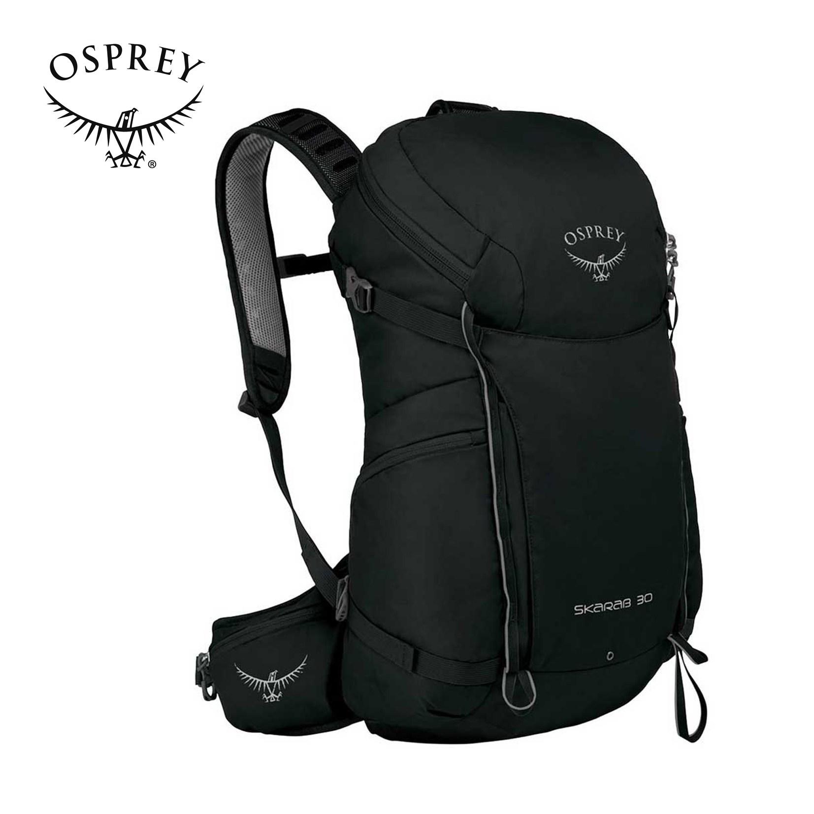 오스프리 스카랩 남성용 등산가방 30L, 블랙