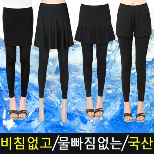 국내생산 루비 빅사이즈 여성 여자 여름 아이스 쿨 플레어 치마레깅스 반바지레깅스 쫄바지-17-5456731849
