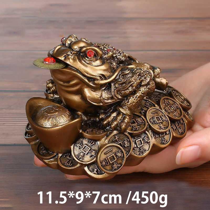 칠나무 장식품 두꺼비 풍수 대박 돈더미 삼족두꺼비 복두꺼비 수지 WDD0813-03, 사진색G
