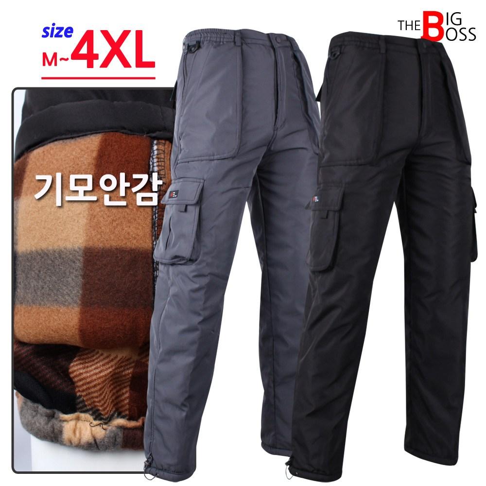[더빅보스] WD 실크 기모 카고 바지 겨울 남자 작업복 등산복 건빵