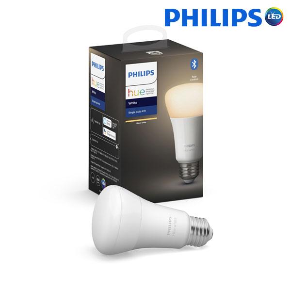 필립스 LED 휴 hue 화이트 A60 블루투스 벌브 전구 램프, 1개, 필립스 LED 휴 화이트 A60