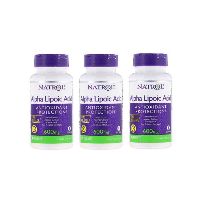 나트롤 알파 리포산 600mg 45Tablets 3팩 / Natrol Alpha Lipoic Acid Time Release 600mg 45Tabs 3pack
