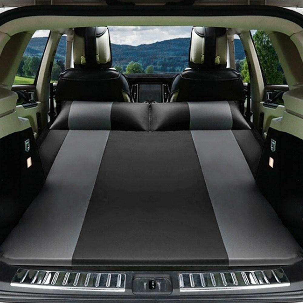 플레노 SUV 차량용 자충매트 캠핑 차박 에어매트 4컬러, 블랙