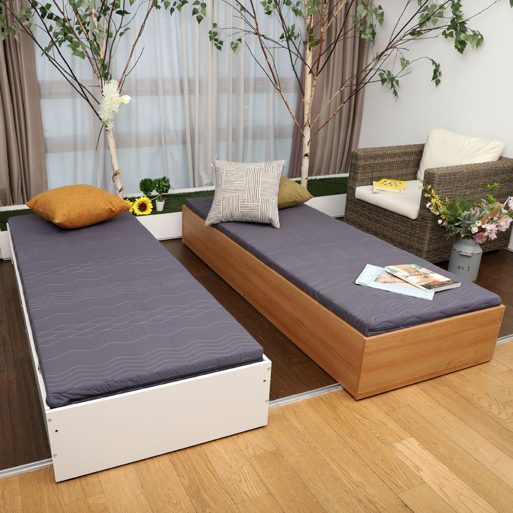 1인용 멀티 싱글 침대 수납 원룸 매트리스포함, 화이트