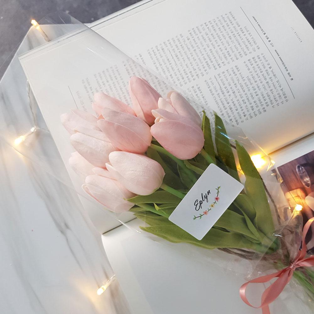 이플린 감성조화 튤립 꽃다발 10송이, 핑크