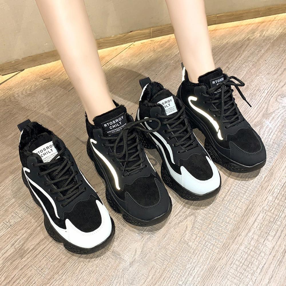 kirahosi 여성 겨울 운동화 기모 여자 캐주얼화 패션 신발 스니커즈 슈즈 362 CHfke2jj