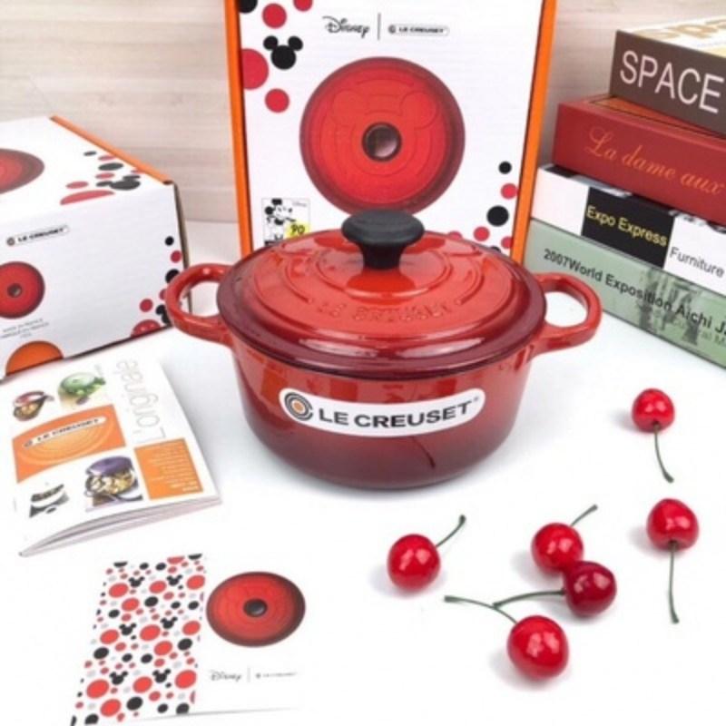 주물 양수냄비 에나멜코팅 18cm 미키마우스 4색, 빨간