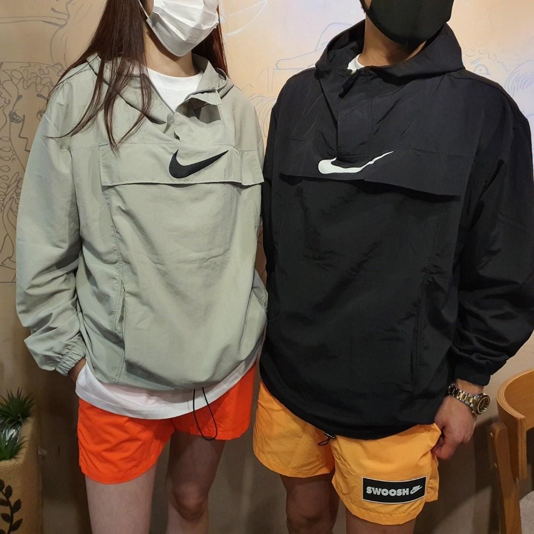 부산 원앤원 [남녀공용] 오버핏 포켓 아노락 바람막이