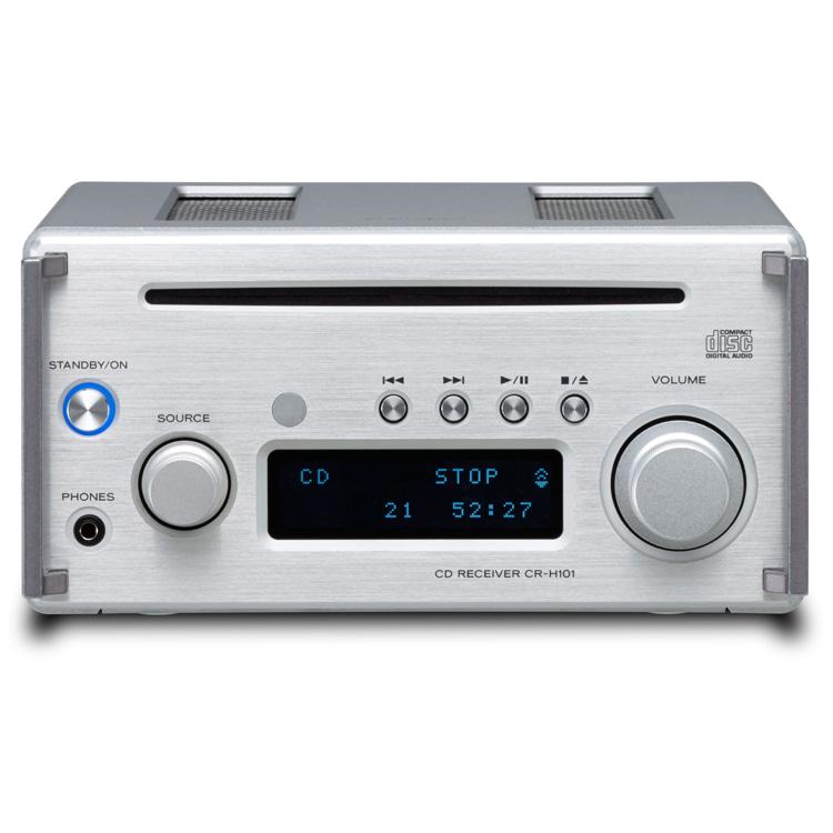 티악 CR-H101 블루투스.CD.라디오.DAC 미니앰프, 실버칼라