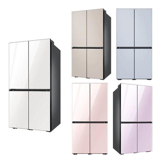 삼성 NS홈쇼핑 비스포크 냉장고 RF85T9003AP 글램새틴, 글램핑크