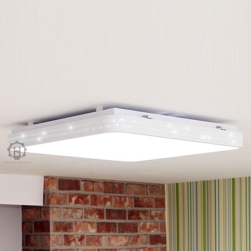 휴빛조명 LED 매직홀 시스템 방등 50W 블랙 화이트