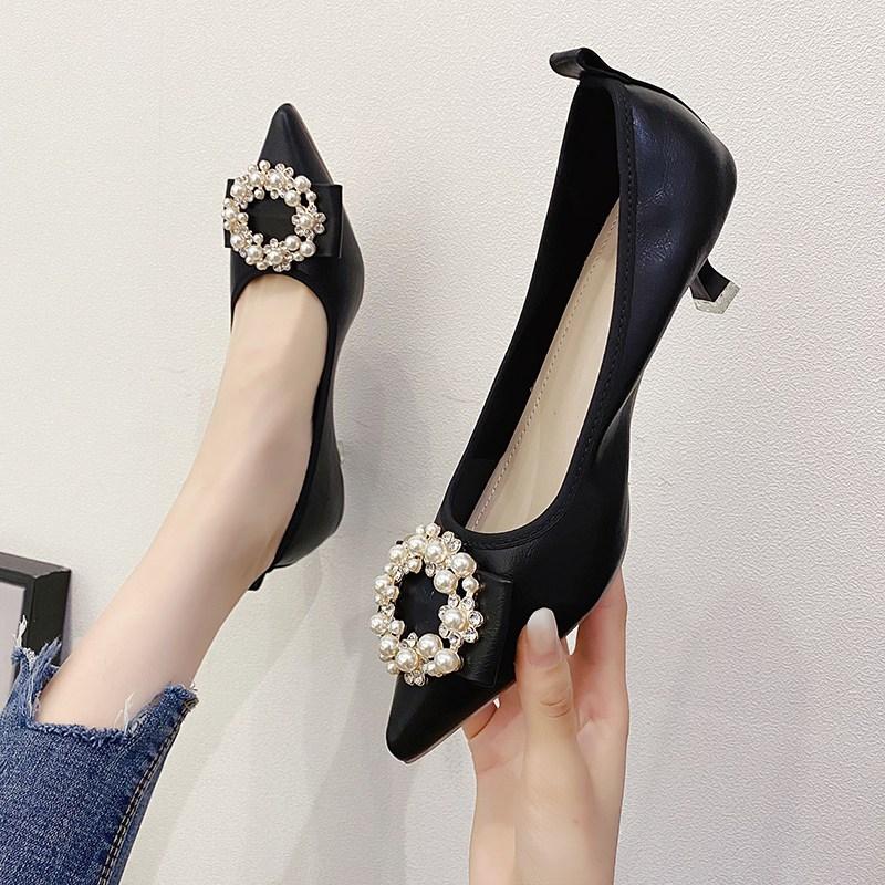 여성 스틸레토 펌프스 단화 프렌치 볼륨 클래식룩 신발 로퍼