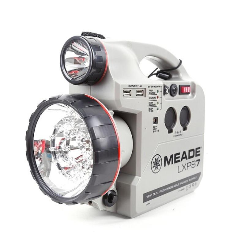 천체 망원경 Meade 다기능 12V7A 충전식 전원 공급 장치 LXPS7 for 천문, 12v7A 공급 (POP 5745900294)
