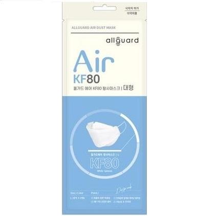 올가드 에어 KF80 마스크 화이트 (대형) 개별포장, 1set, 10매