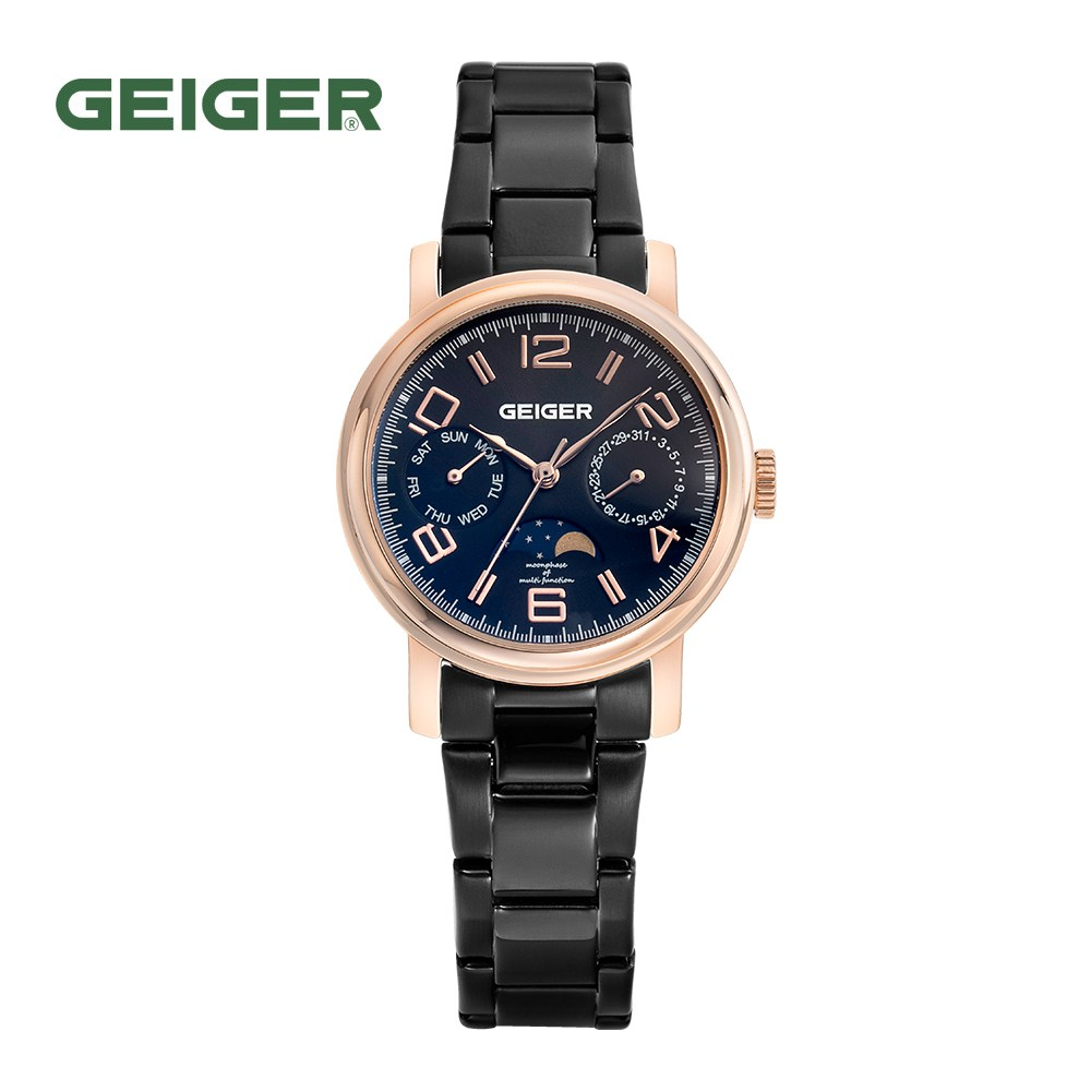 가이거[GEIGER] [본사 정품] 가이거 여성용 문페이즈 메탈시계 GE 8026 RGB L (32mm)