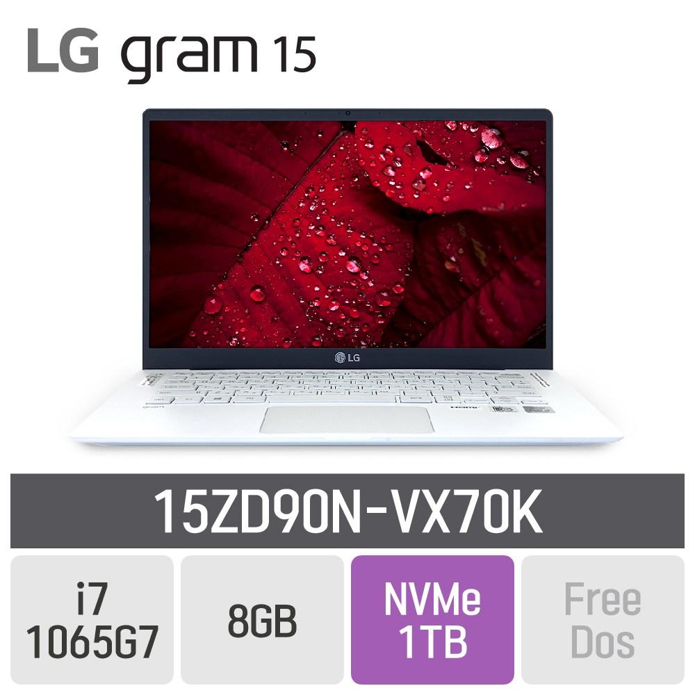 LG 그램15 2020 15ZD90N-VX70K, 8GB, SSD 1TB, 미포함
