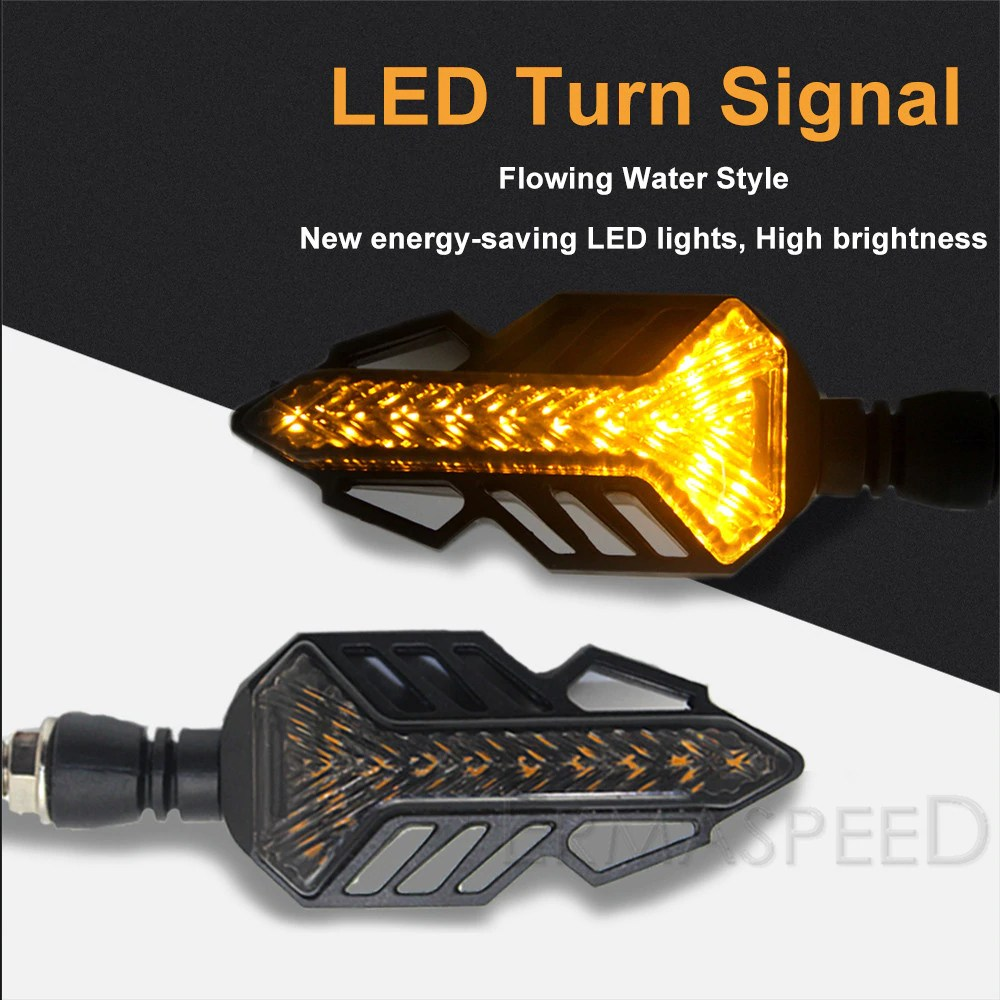 오토바이 Y형 LED 윙카 깜빡이 방향지시등 시그널램프 무빙 범용 후미등 바이크, (선택1번)Y형무빙LED윙카(오렌지)