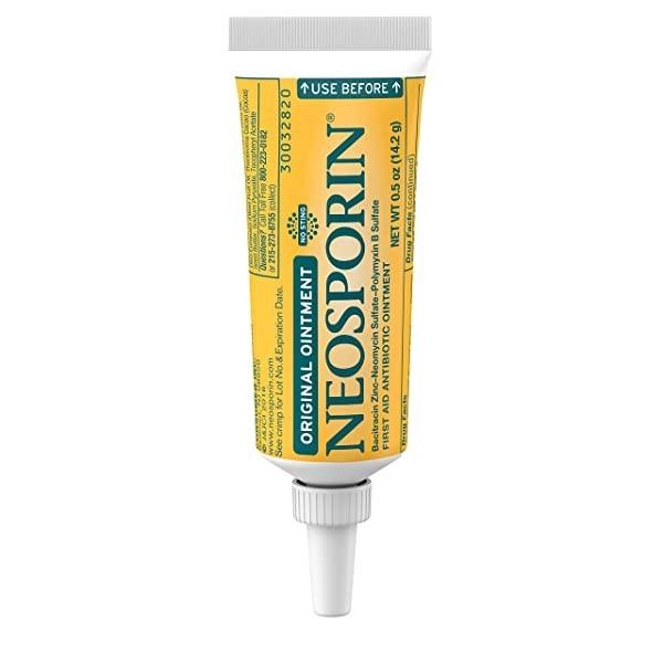 Bacitracin 24 시간 감염 보호를위한 아연 상처 관리 치료 및 경미한 상처 긁힘 및 화상을위한 흉터 외관 최소화 제가 포함 된 Neosporin 오리지널 응급 처치 (POP 5722191258)