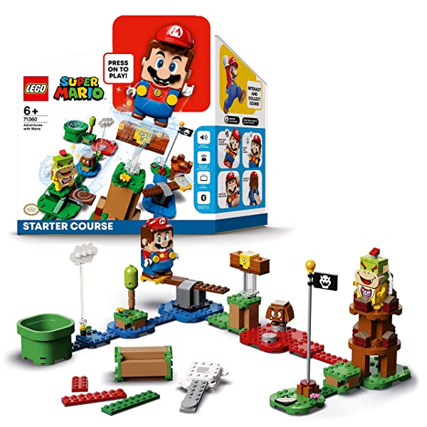 Lego 71360 Super Mario Adventure with Mario - starter kit interactive set with Mario Bowser Jr. a