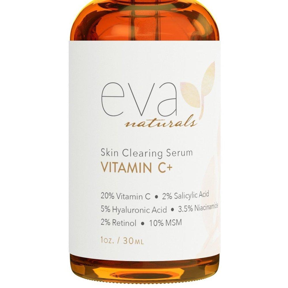 Eva Naturals Skin Clearing Serum Vitamin C 에바 네츄럴 스킨 클리닝 세럼 비타민 1oz(30ml), 1개