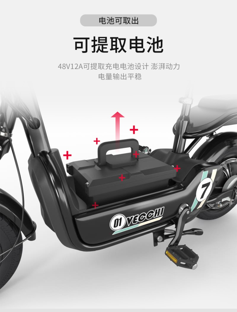 전기자전거 Chongpai 2인용 전동자전거 12Ah 48v 전동스쿠터, 주행거리 85km 리튬배터리 사용 색상선택가능
