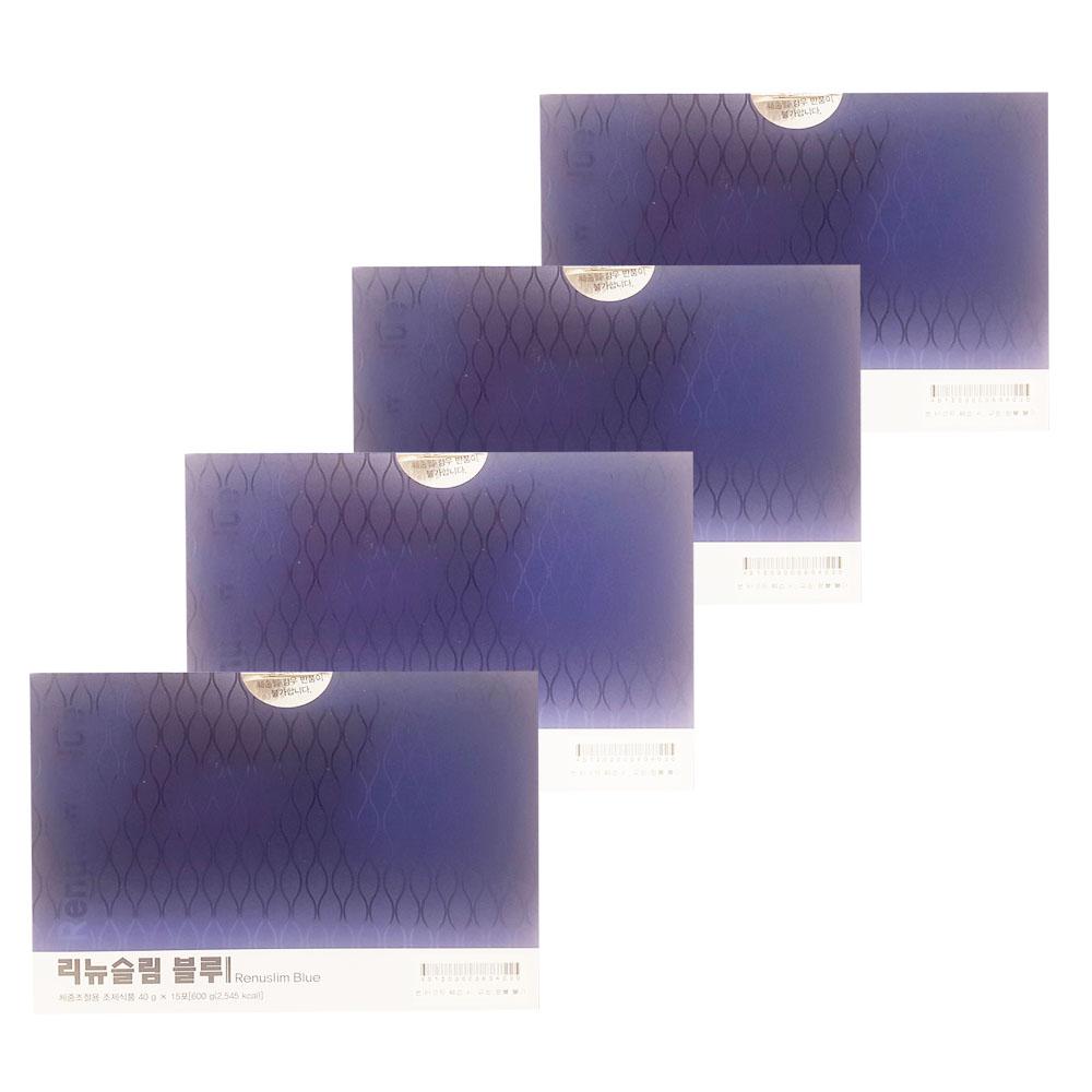 리뉴메디 리뉴슬림 블루 40gX15포X4팩 오토쉐이크 식사대용 체중조절 다이어트쉐이크