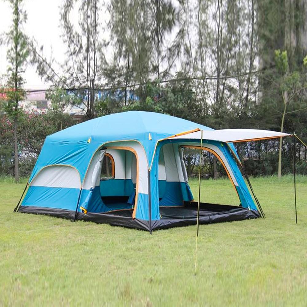 거실형 텐트 대형 쉘터텐트 천막, 5~8인용, 블루
