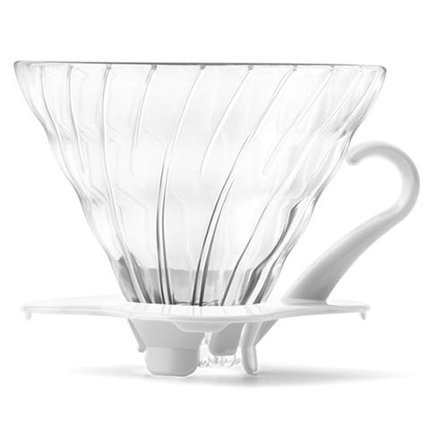 하리오 드리퍼 내열유리 V60 3-4인용 커피 추출기 VDG-02, 화이트