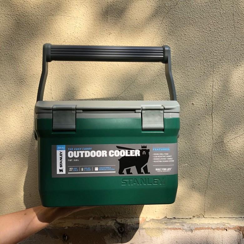 스탠리 야외 휴대용 냉장고 배럴15L 아이스박스 캠핑용 캐리어 쿨러 이동식, 6.6L 단열 쿨러 녹색