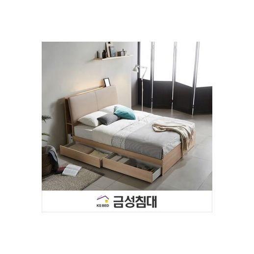 수납 퀸 서랍 침대프레임(Q), 화이트