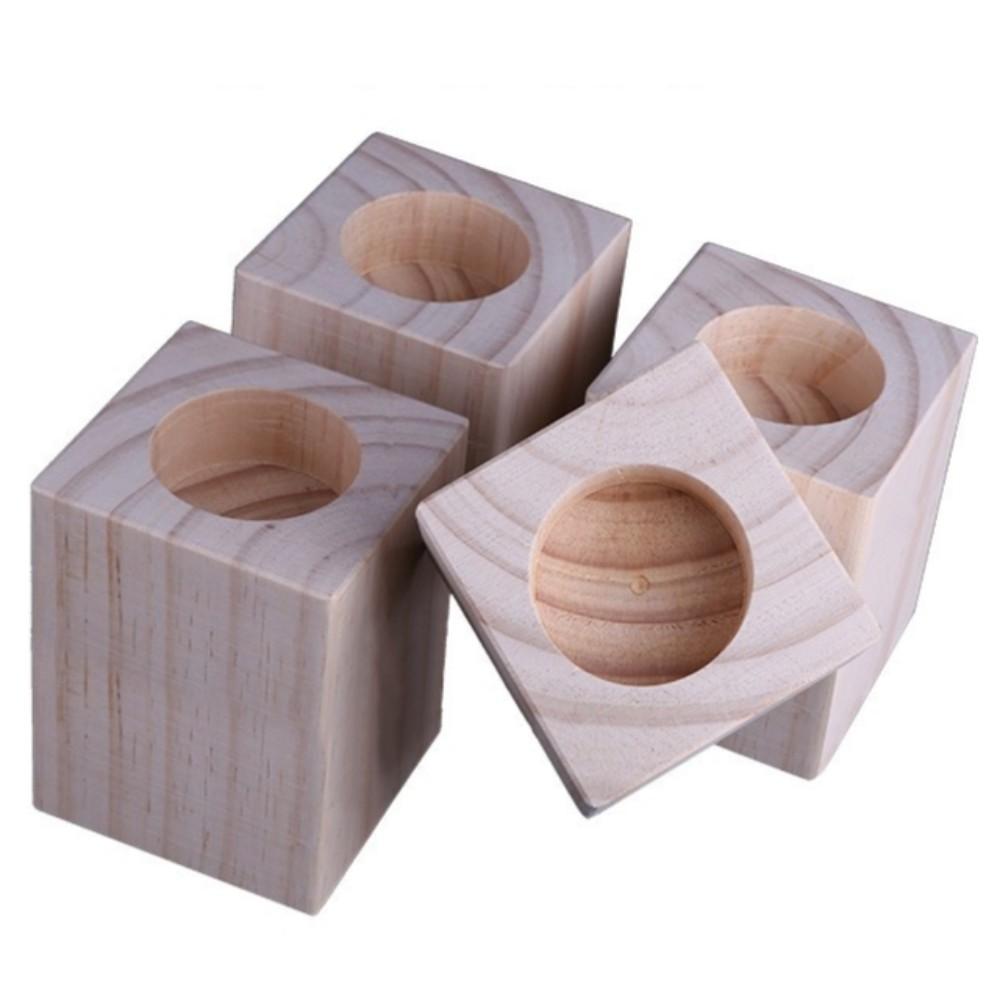 사각바 원형홈 원목 가구 발통 다리 받침 나무다리 가구발 책상 의자 테이블 높이 조절, 지름3.0Cm/ 높이 14Cm/개