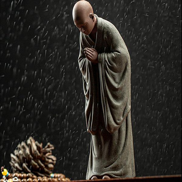 불교용품 합장하는 스님 불자 인테리어 장식품 2종택1, 01