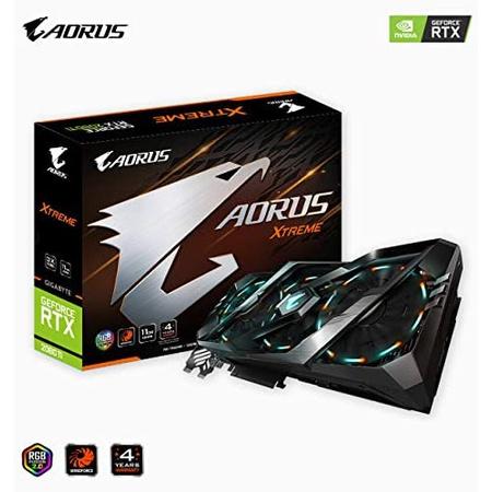 해외550015490 그래픽카드 Gigabyte (GIGA0) Gigabyte AORUS GeForce RTX 2080 Ti Xtreme 11G Graphics Ca, 상세 설명 참조0