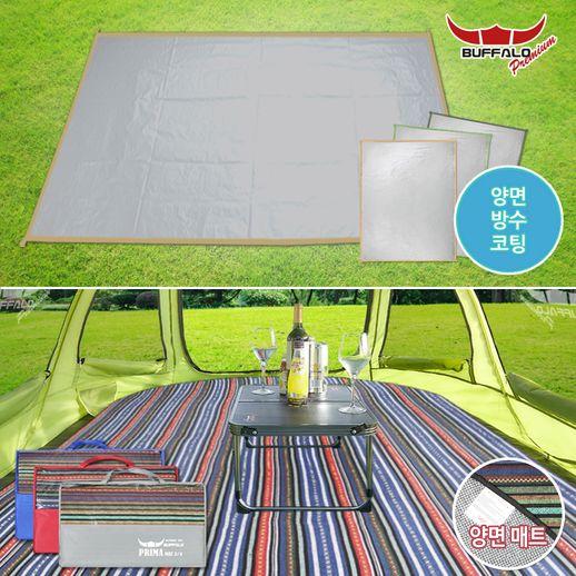 [버팔로 프리미엄] 캠핑 텐트 방수포 그라운드 시트 매트 모음, 02_그라운드시트 5~6인용