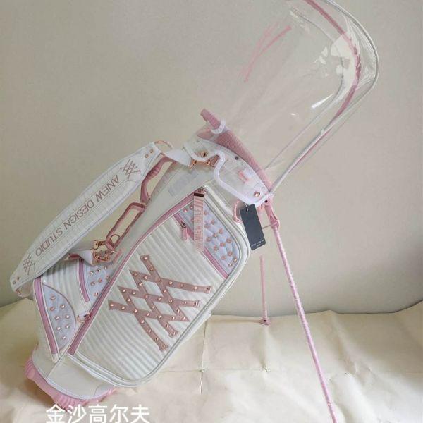 파리게이츠 캐디백 여자 골프백 바퀴 여성 골프가방 pearlygates 스탠드 방수 아내 선물 여름 제주도, 화이트파우더싱글-23-5809612846