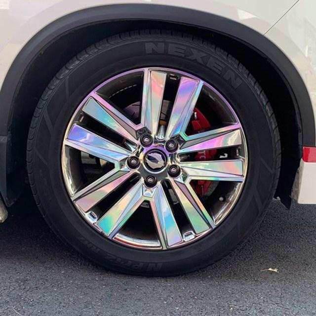 휠 홀로그램 스티커 차량용 자동차, 1세트, G4 렉스턴 스포츠 / 20인치