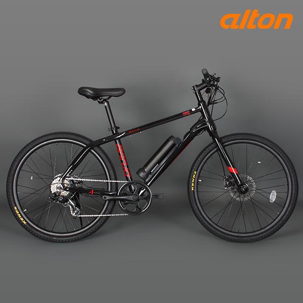 (주)알톤스포츠 GIFT 전기 자전거 2021 알톤 벤조 26 7단, 블랙레드 파스/스로트 겸용