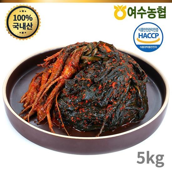 [여수농협]여수돌산 고들빼기 5kg, 없음, 상세설명 참조
