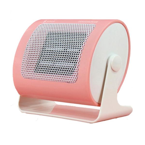 미니 난방 팬히터 캠핑 난방 미니온풍기 핑크팬히터, 단품