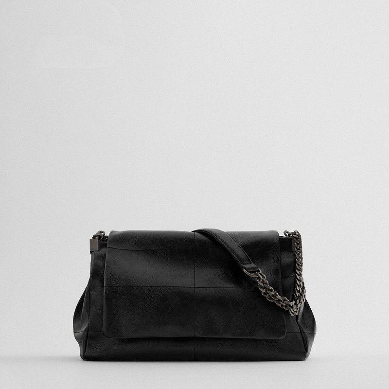 [여성패션] 자라 TRFB ZARA 여성 가방 블랙 호보백 플랩 소프트 레더 토트백 숄더백 - 랭킹91위 (14800원)