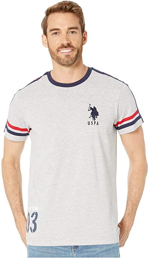 [미국]남성 티셔츠 폴로 USPA 권리 숄더 라이트 헤더 그레이