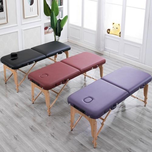 휴대용 접이식 미용베드 이동식 마사지 침대, 블랙70cm