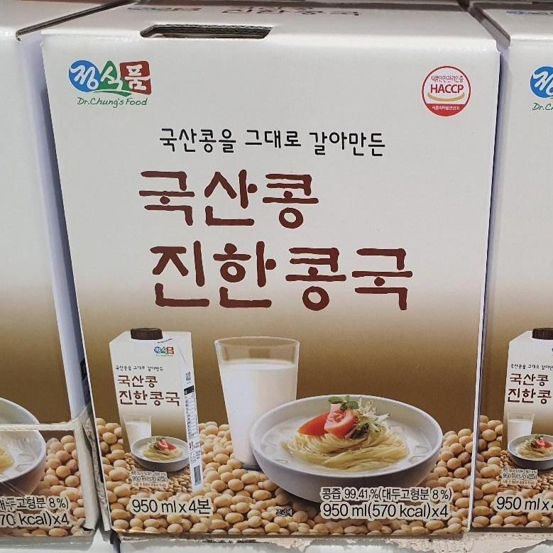 진한 콩국 950ml X 4 정식품 국산콩국 코스트코