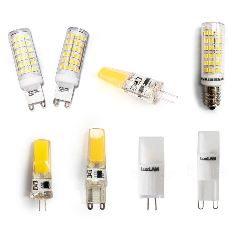 LED JC G4 GU5.3 G9 E14 E17핀전구 할로겐 미니램프 꼬마전구 12V 220V, 05 BK 핀램프 G9 220V 5W 콘타입, 전구색(노란빛)