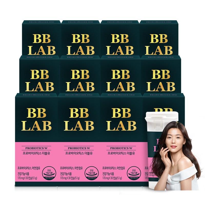 뉴트리원 질 유래 특허유산균 여성 장 건강 면역 강화 소형캡슐 비비랩 프로바이오틱스 + 활력환, 12box