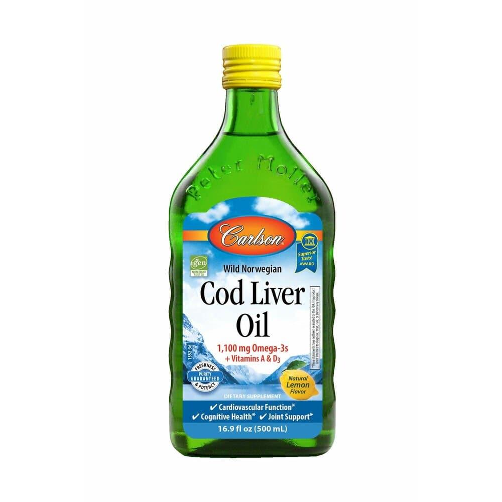 칼슨 와일드 노르웨이 대구 간유 코드리버오일 비타민 A D 레몬향 500ml