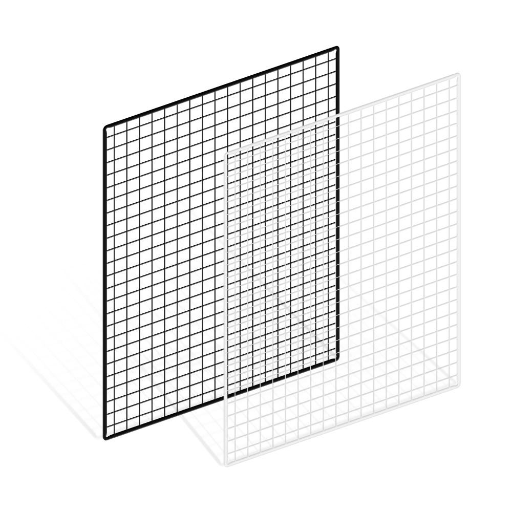 위드금창 메쉬망 900x1200mm 다용도 인테리어 벽선반 휀스망 철망, 900x1200mm 블랙, 1개