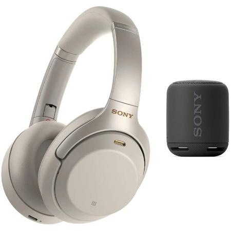 해외Sony WH-1000XM3 Wireless Noise-Canceling Over-Ear Headphones (Silver) Bundle with Sony Extra Ba, 상세 설명 참조0, Black