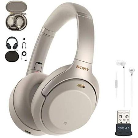 헤드셋 Sony WH-1000XM3 Wireless Noise-Canceling Over-Ear Headphones (Silver USA Warranty) in-Ear, 상세 설명 참조0, Silver